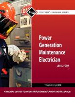 Power Generation Maintenance Electrician Level 4 Trainee Guide