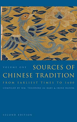 Sources of Chinese Tradition - Debary