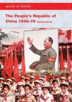 The People's Republic of China 1949-76