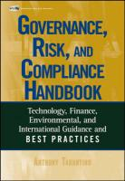 Governance, Risk, and Compliance Handbook: Technology, Finance, Environmental, and International Guidance and Best Practices