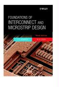 Foundations of Interconnect and Microstrip Design