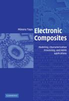Electronic Composites: Modeling, Characterization, Processing, and Mems Applications