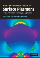 Modern Introduction to Surface Plasmons: Theory, Mathematica Modeling and Applications