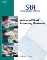 Sbi: Advanced Word Processing Simulation