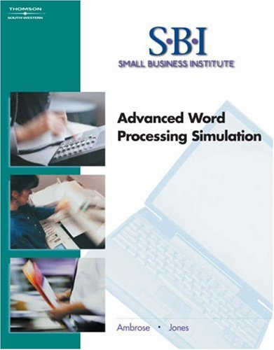SBI: Advanced Word Processing Simulation - Ann Ambrose; Dorothy L Jones