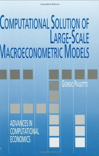 Computational Solution of Large-Scale Macroeconometric Models (Advances in Computational Economics) - Giorgio Pauletto