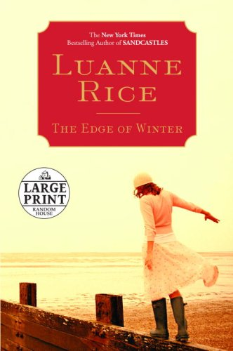 The Edge of Winter (Random House Large Print) - Luanne Rice
