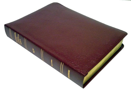 Thompson Chain Reference Bible (Style 509burgundy index) - Regular Size KJV - Bonded Leather - Frank Charles Thompson
