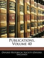 Publications, Volume 40