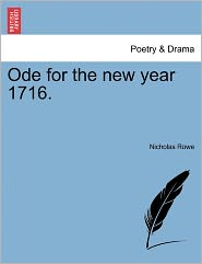 Ode for the New Year 1716.