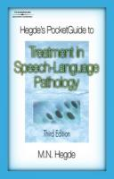 Hegde's Pocket Guide to Treatment in Speech-Language Pathology
