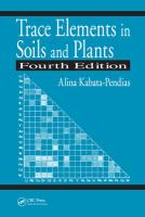 Trace Elements in Soils and Plants