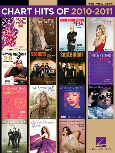 Chart Hits Of 2010-2011 (Chart Hits of Piano Vocal Guitar) - Hal Leonard Corp.