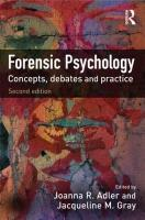 Forensic Psychology: Concepts, Debates and Practice (Second Edition)