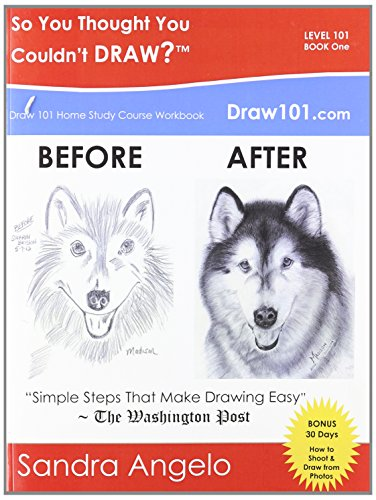 So You Thought You Couldn't Draw?: Draw 101 Home Study Course Workbook: Level 101 (30 Minute Art Series) - Sandra McFall Angelo