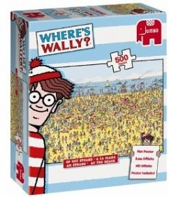 Jumbo Spiele 17251 - Wo ist Walter? Where´s Wally?: Am Strand, 500 Teile mit Poster