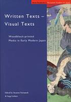 Written Texts - Visual Texts: Woodblock-Printed Media in Early Modern Japan