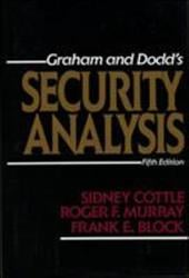 Security Analysis: Fifth Edition - Block, Frank E. / Graham, Benjamin / Cottle