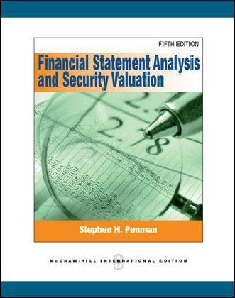 Financial Statement Analysis and Security Valuation - International Edition