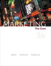 Marketing: The Core [With Core Cards] - Kerin, Roger A. / Hartley, Steven W. / Rudelius, William
