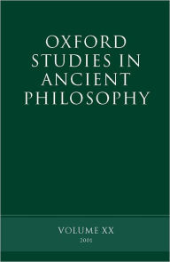 Oxford Studies in Ancient Philosophy Summer 2001 - David N. Sedley