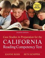 Case Studies in Preparation for the California Reading Competency Test (4th Edition)