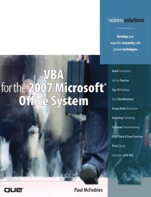 VBA for the 2007 Microsoft Office System (Adobe Reader) - Paul McFedries