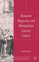 Romantic Magazines and Metropolitan Literary Culture