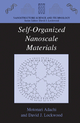 Self-organized Nanoscale Materials - Motonari Adachi; David J. Lockwood