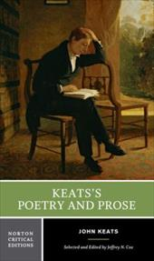 Keats's Poetry and Prose - Cox, Jeffrey N.