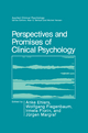 Perspectives and Promises of Clinical Psychology - Anke Ehlers; Wolfgang Fiegenbaum; Irmela Florin; Jurgen Margraf
