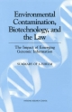 Environmental Contamination, Biotechnology, and the Law - Robert Pool;  Board on Life Sciences;  Division on Earth and Life Studies;  National Research Council