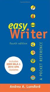 Easywriter: A Pocket Reference - Lunsford, Andrea A. / Matsuda, Paul Kei / Tardy, Christine M.