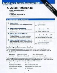 ESL Quick Reference Card - Anker, Susan