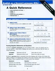 ESL Quick Reference Card - Susan Anker