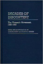 Decades of Discontent: The Women's Movement, 1920-1940