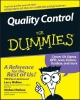 Quality Control For Dummies - Larry Webber; Michael Wallace