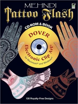 Mehndi Tattoo Flash CD-ROM and Book - Alan Weller