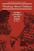 Thinking about Children: Sociology and Fertility in Post-War England