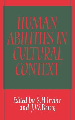Human Abilities in Cultural Context - Irvine, S. H. / Berry, W. (eds.)