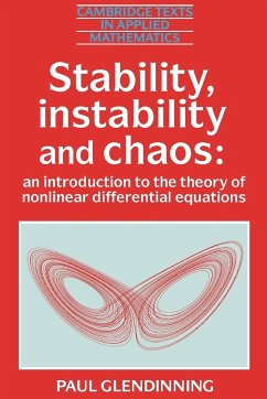 Stability, Instability and Chaos - Glendinning, Paul