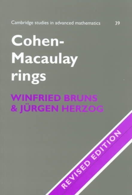 Cohen-Macaulay Rings - Winfried Bruns