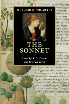 The Cambridge Companion to the Sonnet - Herausgegeben von Cousins, A. D. Howarth, Peter