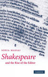 Shakespeare And Rise Of Editor Hb - Vv.Aa.