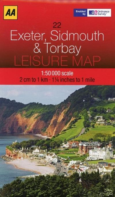 Leisure Map WK 22 Exeter, Sidmouth & Torbay 1 : 50 000