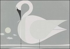 Charley Harper: Trumpeter Swan Notecards [With Envelope] - Herausgeber: Pomegranate Communications Inc