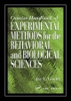 Concise Handbook of Experimental Methods for the Behavioral and Biological Sciences - Jay E. Gould