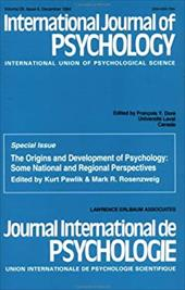International Journal of Psychology: International Union OS Psychological Science - Dore, Francois Y.