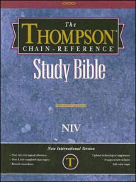 Thompson Chain-Reference Study Bible: New International Version (NIV), Black Imitation Leather, Thumb-Indexed - Kirkbride Bible Company