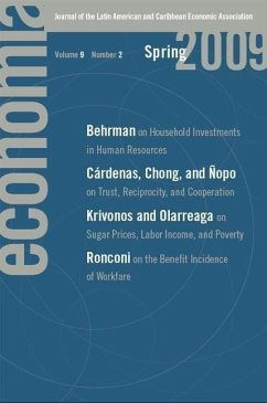 Economia: Spring 2009: Journal of the Latin American and Caribbean Economic Association - Herausgeber: Ferreira, Francisco Rigobon, Roberto Engel, Eduardo